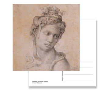 Postkarte, Kleopatra, Michelangelo, halbe Länge Figur der Kleopatra