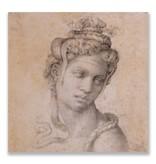 Postcard, Cleopatra, Michelangelo ,Half Length Figure of Cleopatra