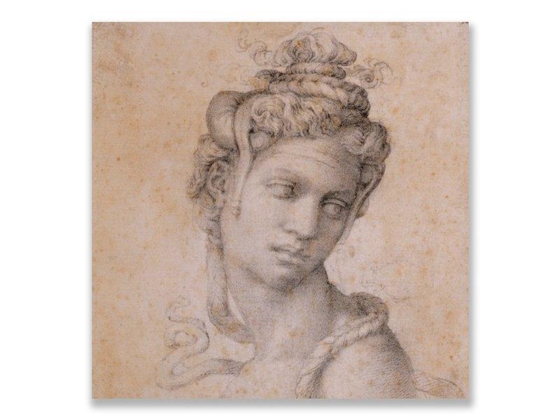 Ansichtkaart, Cleopatra, Michelangelo ,Half Length Figure of Cleopatra