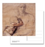 Postal, Madonna, Michelangelo, Madonna and Child 1520-25