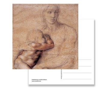Ansichtkaart, Madonna, Michelangelo,Madonna en kind 1520-25