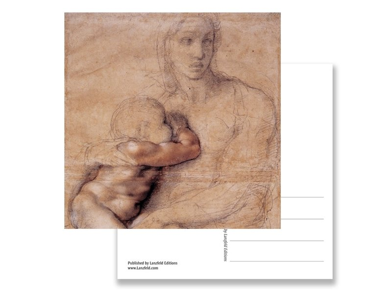 Postkarte, Madonna, Michelangelo, Madonna und Kind 1520-25