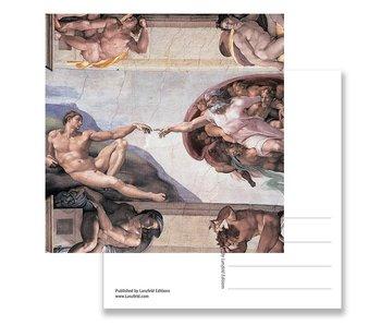 Postkarte, Sixtinische Kapelle, Erschaffung von Adam, Michelangelo