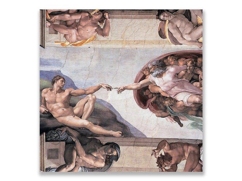 Ansichtkaart, Sixtijnse Kapel, Schepping van Adam, Michelangelo