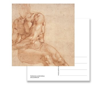 Postcard, Study of a Seated Young man and.., Michelangelo
