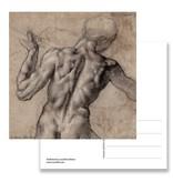 Postkarte, nackter Mann, von hinten gesehen, Michelangeloh