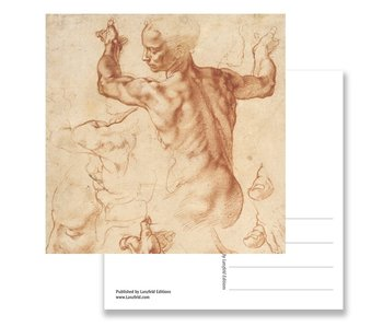 Postcard, Studies for the Libyan Sibyl, Michelangelo