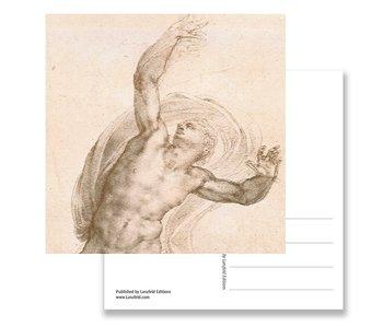 Postal, Cristo resucitado, Miguel Ángel, c. 1532
