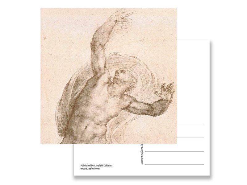 Ansichtkaart, De opgestane Christus, Michelangelo, ca 1532
