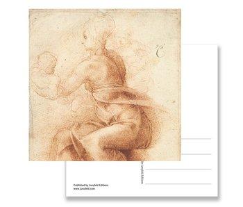 Carte postale, mère et enfant, Michelangelo