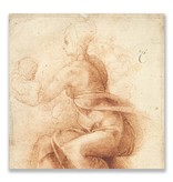 Ansichtkaart, Moeder en kind, Michelangelo