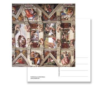 Ansichtkaart, Detail Sixtijnse Kapel, Michelangelo