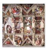 Carte postale, détail Chapelle Sixtine, Michel-Ange