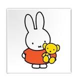 Aimant de réfrigérateur, Miffy avec ours en peluche