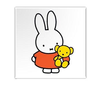 Imán de nevera, Miffy con osito de peluche