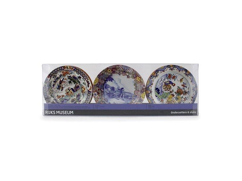 Dessous de verre, assiettes Delft Blue