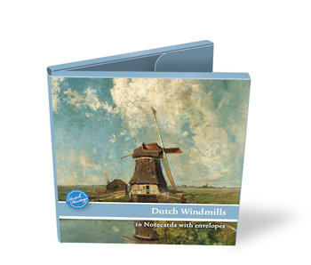 Porte-cartes, carré, moulins à vent hollandais, Gabriel