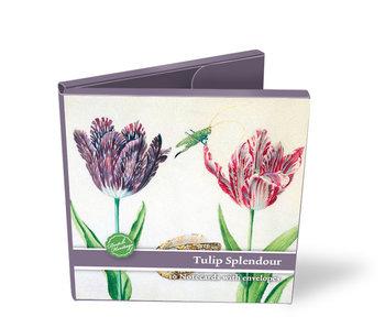 Porte-cartes, carré, Tulipe Splendour