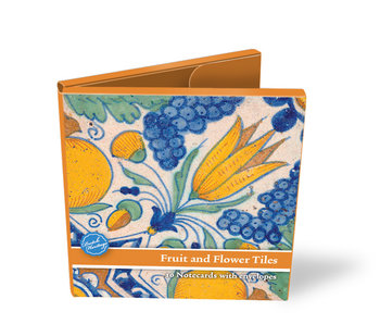 Card Wallet, Delft Blue Tiles, Fruits and Flowers