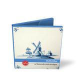 Porte-cartes, Carré, carreaux bleu Delft