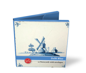 Card Wallet, Square, Delft Blue Tiles