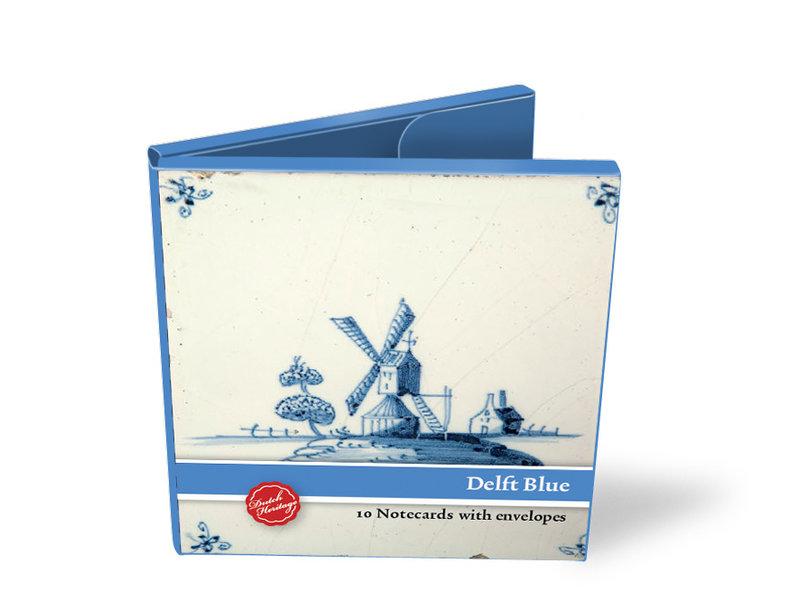 Kartenmappe, Quadrat, Delfter blaue Kacheln