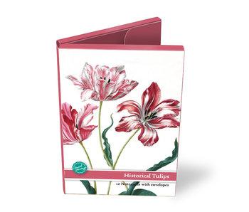 Kartenordner, große, historische Tulpen, Merian