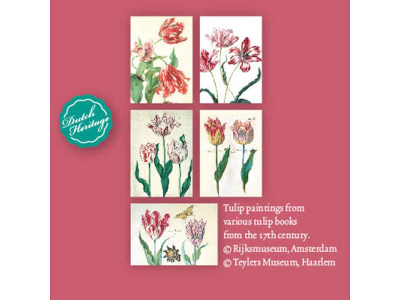 Kartenmappe, große, historische Tulpen