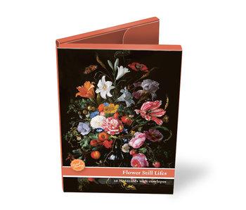 Kaartenmapje,  set van 10 kaarten, Stilleven met bloemen