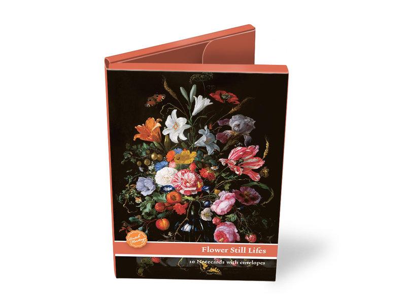 Kaartenmapje,  Groot, Stilleven met bloemen