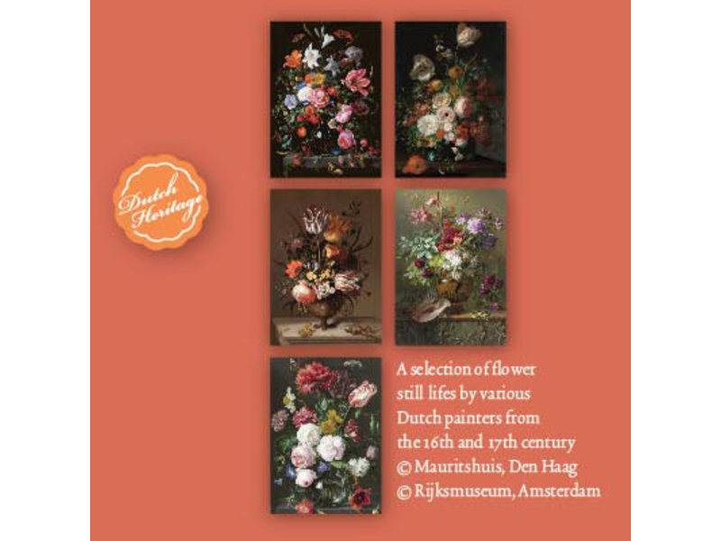 Porte-cartes, grand, nature morte avec fleurs