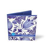 Kaartenmapje, Vierkant, Delfts blauwe bloemen tegels