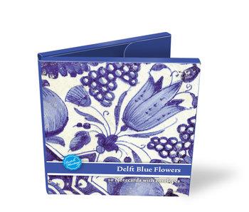 Cartera de tarjeta, cuadrado, azulejos florales azules de Delft