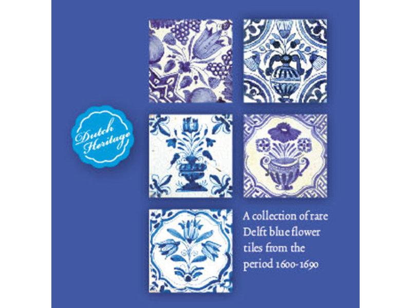 Kartenmappe, Quadrat, Delfter blaue Blumenfliesen