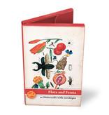 Porte-cartes, petit, flore et faune