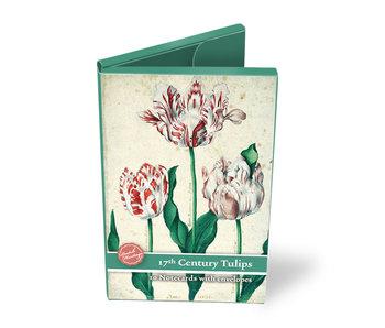 Carpeta de tarjetas, tulipanes pequeños del siglo XVII