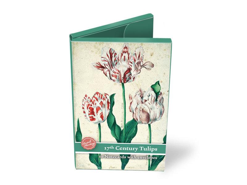 Card Wallet, Medium, 17th Century Tulips