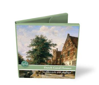 Kaartenmapje,  Vierkant, Hollandse grachtenhuizen
