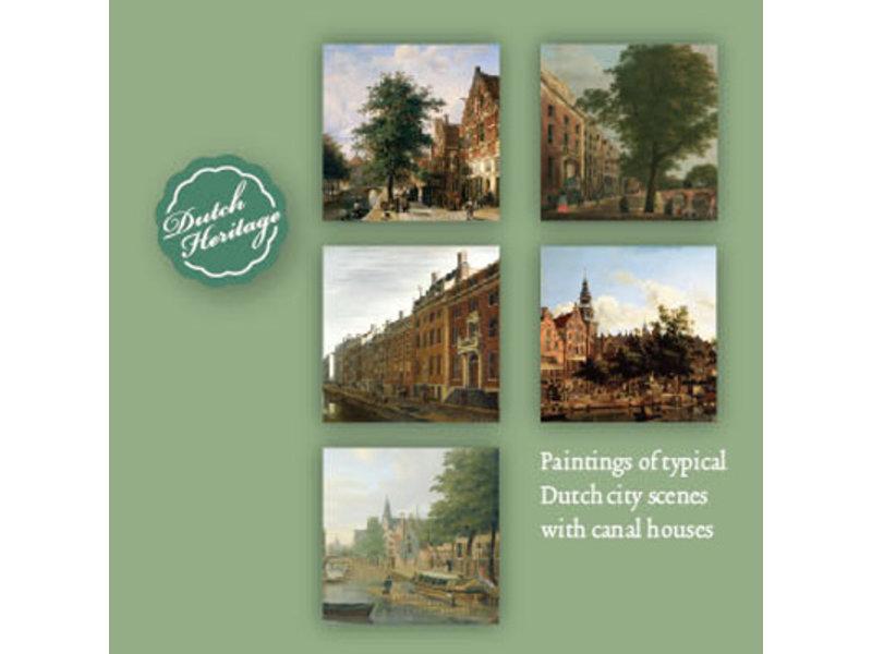 Porte-cartes, lot de 10 cartes, maisons du canal hollandais