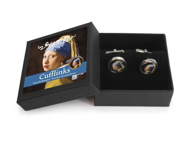Cufflinks, Girl with a Pearl Earring, Vermeer