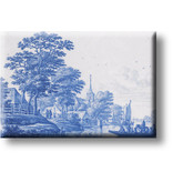Aimant pour réfrigérateur, Paysage bleu de Delft, Frytom