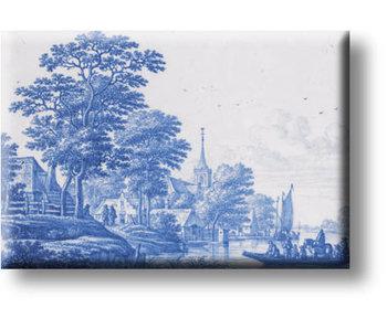 Koelkastmagneet, Delfts Blauw Landschap, Frytom