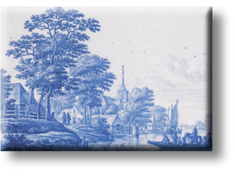 Kühlschrankmagnet, Delfter Blaue Landschaft, Frytom
