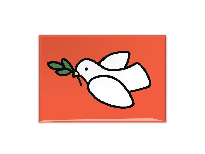 Imán de nevera, paloma de la paz, Dick Bruna