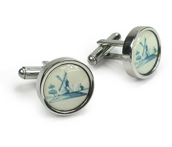 Cufflinks, Windmill Delft Blue Tile