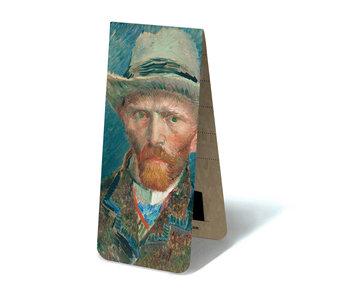 Magnetic Bookmark, Self Portrait with hat, Van Gogh