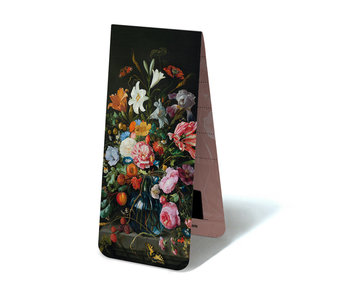 Magnetic Bookmark, Still Life Flowers, De Heem