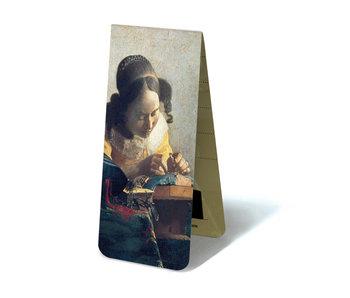 Magnetische boekenlegger ,De kantwerkster, Vermeer
