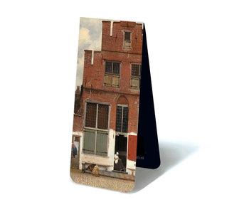 Marcapaginas  magnético, pequeña calle de Vermeer