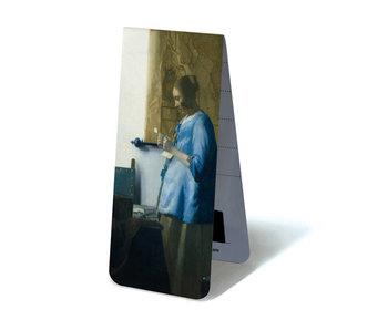 Magnetische boekenlegger , Vrouw met brief , Vermeer